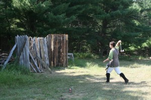 Axe throwing at Forts Folle Avoine