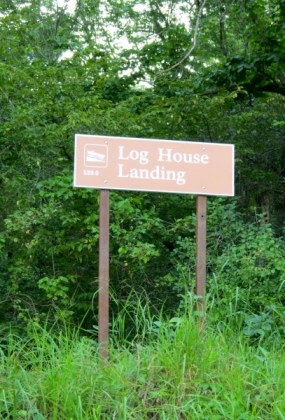 Log House Landing sign