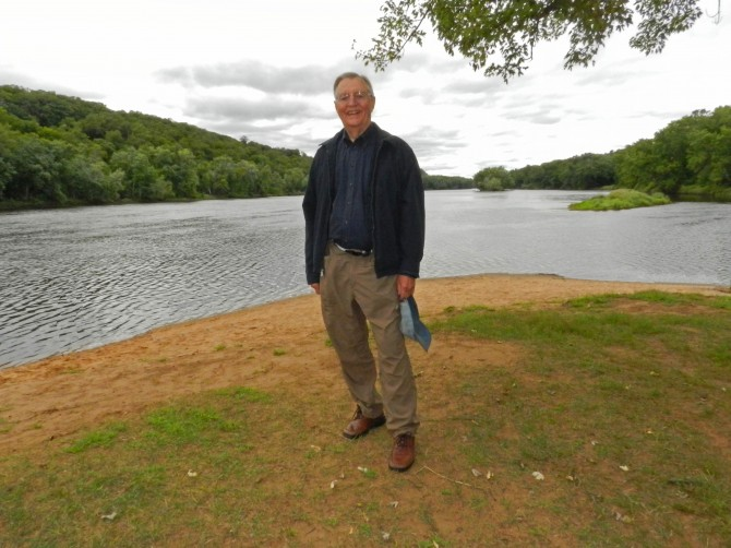 Walter Mondale at Osceola Landing on the St. Croix River, photo by Paul Garneau Clark