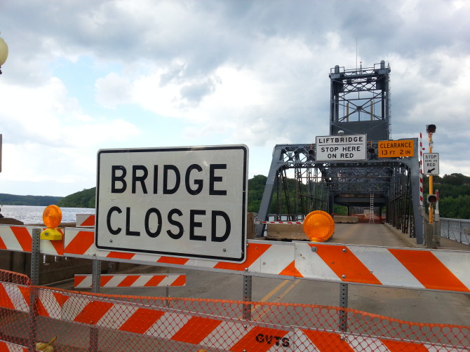 Stillwater bridge closed