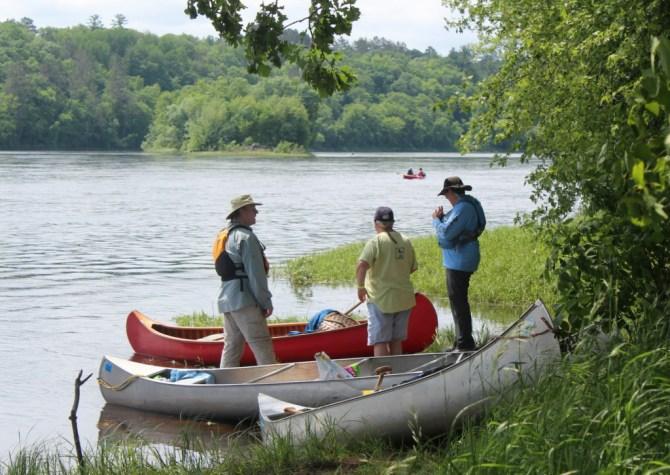 Canoe conversations.