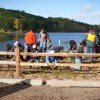 Restoration work at the Lily Lake boat launch (Photo via Middle St. Croix Watershed District)