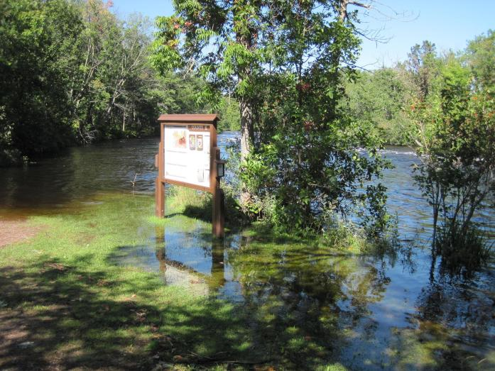 County K Landing on the lower Namekagon, flooded by recent rains