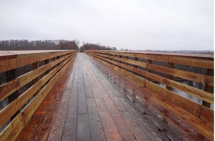 New Gandy Dancer Trail bridge deck (Photo courtesy MN DNR)