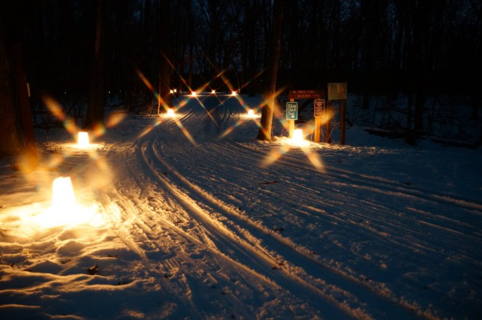 Candlelight skiing at Wild River State Park