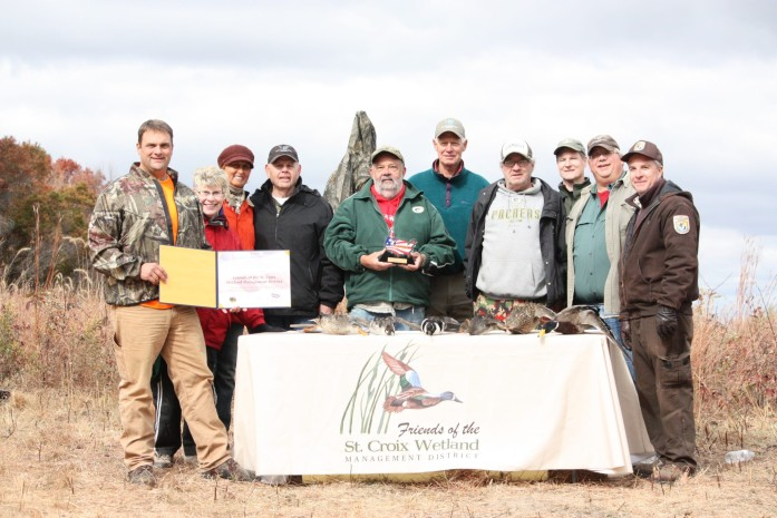 The Friends of the St. Croix Wetland Management District received a Take Pride in America volunteering award from the Department of Interior in 2012.