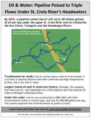 Line 61 pipeline fact sheet