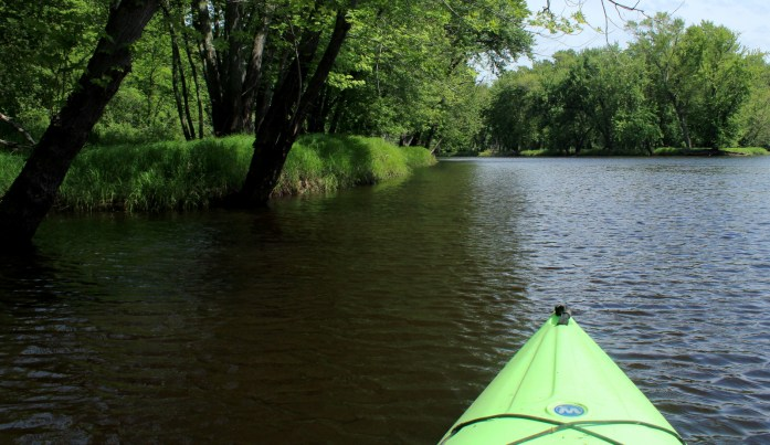 Kayaking the St. Croix River backwaters.