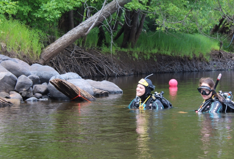 National Park Service divers in Marine on St. Croix.