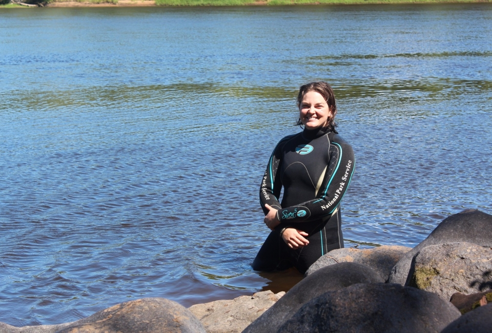 Team lead Jessica Keller of the NPS Submerged Resources Center.