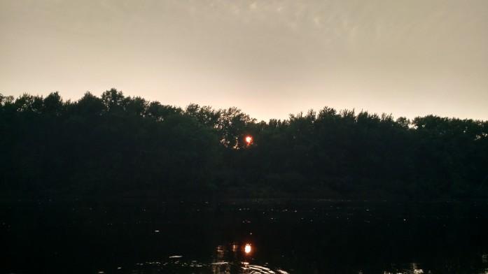 Sun setting along the St. Croix River