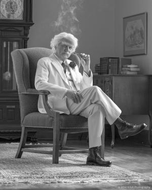 Don Shelby as Samuel Clemens, aka Mark Twain. (© Don Shelby)