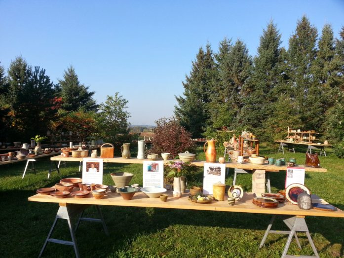 Pottery for sale at Guillermo Cuellar's fall sale. (Photo courtesy ArtReach St. Croix)
