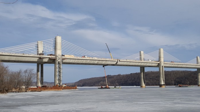 St. Croix Crossing bridge, Feb 17, 2017.