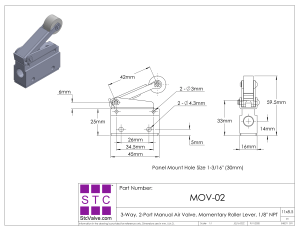 MOV02: HandOperated Pneumatic Air Valve with Momentary