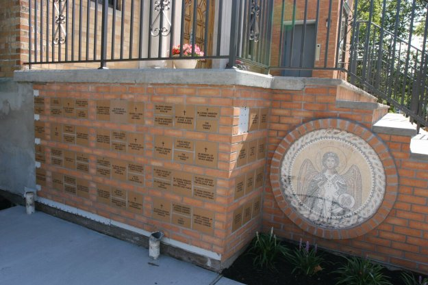 The first wall is up and the second wall of names is being prepared. If you wish to have your name or a family member name commemorated in on brick contact the church office at (732) 826-4466.