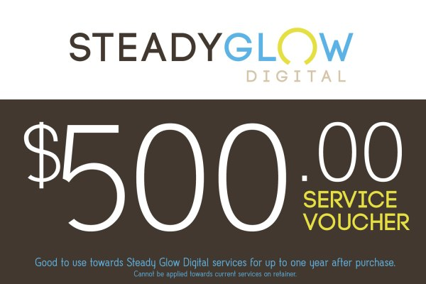 Steady Glow Digital service voucher for $500