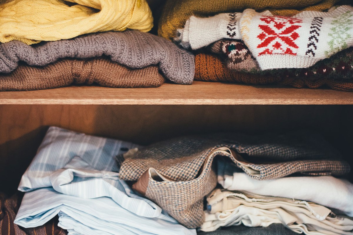 Reduce waste while you're at home by wearing the same clothes 2-3 days in a row