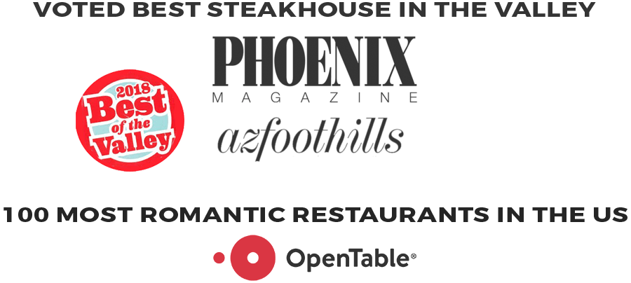 Steak 44 was voted best Steakhouse in the valley by Phoenix Magazine