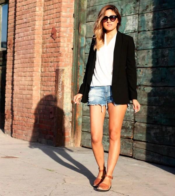 blazer + jeans + avarca