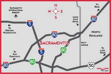 Map of greater Sacramento