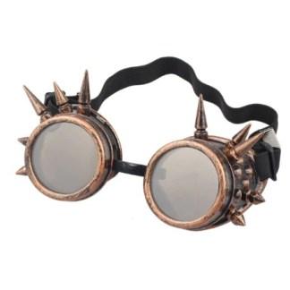 Steampunk Schweissbrille 8 ist antik kupferfarben