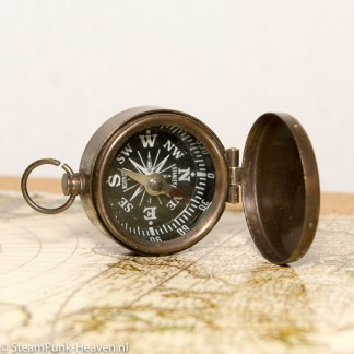 kleiner Steampunk Messing-Kompass