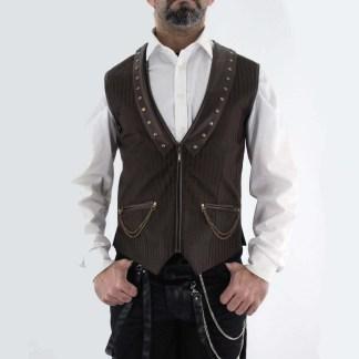 Steampunk Herren Weste Duncan