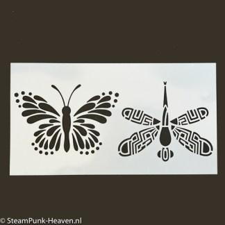 Steampunk Schablone Lilac