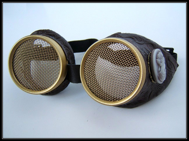 Brass Insect Lover Steampunk Goggles With Hive Lenses Amp Cameo
