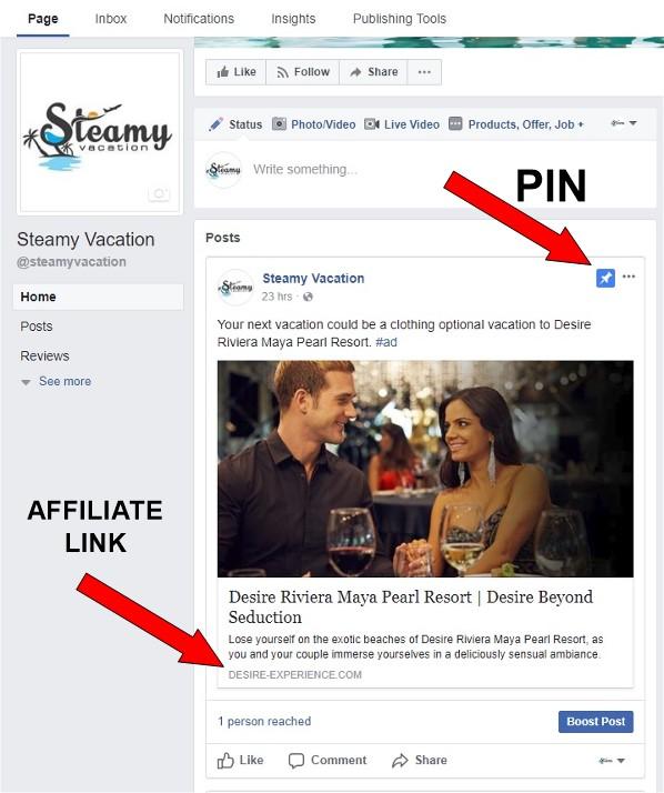Desire Resort Facebook Pin