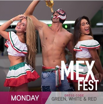 Temptation Resort Theme Night Monday Mex Fest