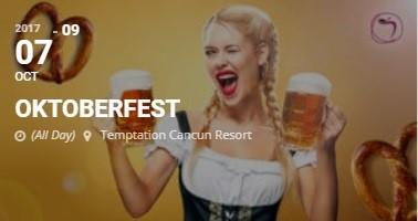 Temptation Resort Cancun Oktoberfest