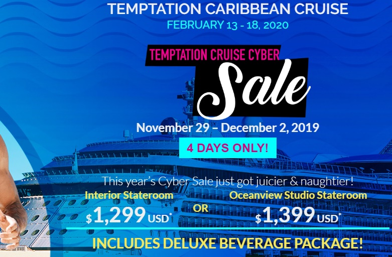 Temptation Cruise Cyber Sale 2019