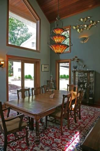 100 Year Old Barn Transformed into Art Studio in Delavan - dining-room-1