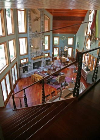 100 Year Old Barn Transformed into Art Studio in Delavan - full-room-from-staircase-2