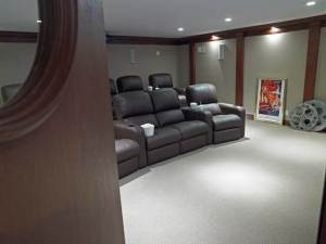Basement Media Room Remodeling Project - Hartung-026740