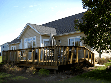 LP SmartSide Siding with Cedar Siding finish