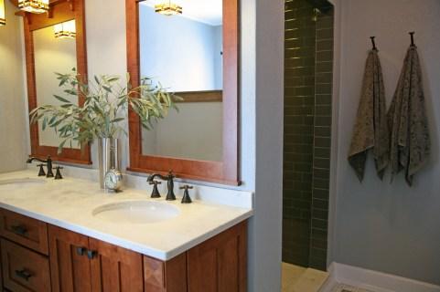 Craftsman Style Master Bath Remodel in Elkhorn - moon-shower-vestibule-and-vanity71