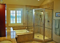 Master Bath with Soaking Tub in Delavan - shower-corner