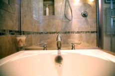 Master Bath with Soaking Tub in Delavan - tub-hardware-detail