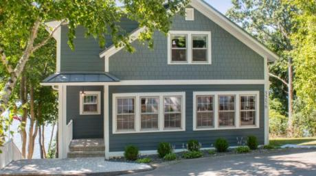 New exterior completely transforms this cottage on Delavan Lake.