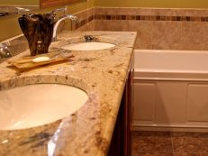 Granite double vanity top