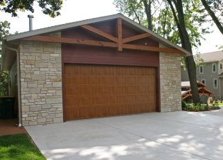 Stunning Portico Transformation Project on Booth Lake - garage-steb-garage-door