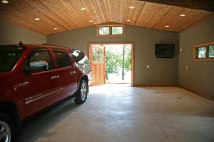 Stunning Portico Transformation Project on Booth Lake - gartage5-steb-garage-interior-out-toward-lake