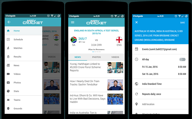 NDTV Cricket for android