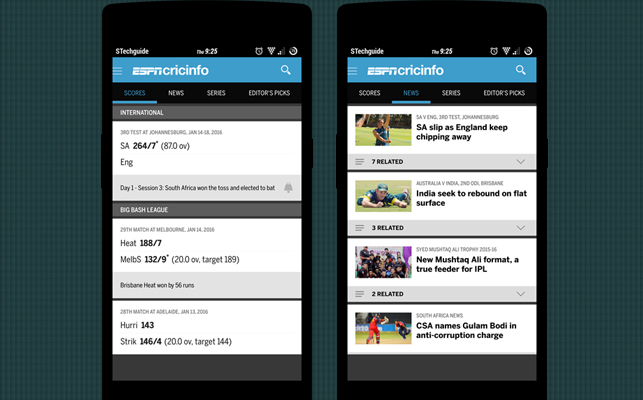 espn cricinfo for android