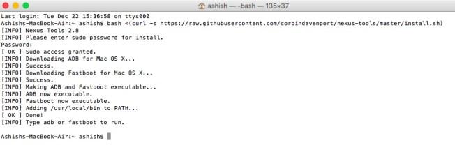 setup adb and fastboot on mac