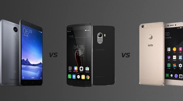 Xiaomi Redmi Note 3 vs Lenovo K4 Note vs LeEco Le1s