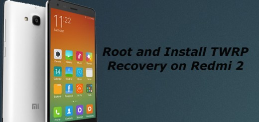 Root and Install TWRP Recovery on Redmi 2